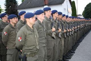 Soldaten des Einrückungstermins Juni wurden in Wundschuh angelobt.