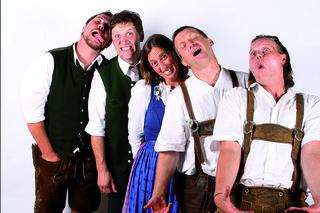 """Mit dabei beim vierten Gstanzl Singen sind auch """"Schweinshaxn"""" aus Oberösterreich."""