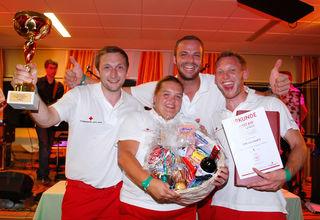 Das Siegerteam ÖRK Linz Stadt 2: mit Aaron Stadler, Marlies Kettenhuemer, Martin Löffler und Rainhard Reisinger