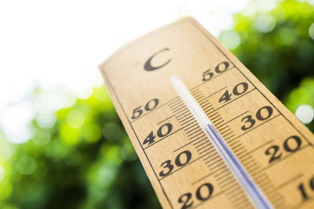 Die Hitzewelle lässt die Temperaturen steigen