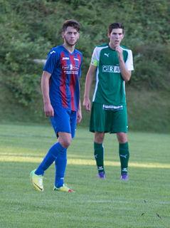 Drakonische Strafe: Andritz-Spieler Sead Ismajli (l.) wurde vom StFV für den Rest der Saison gesperrt.