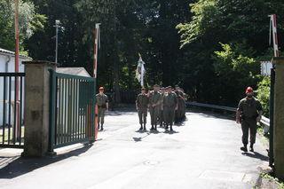Die Soldaten marschierten im Gleichschritt raus aus der Hadik-Kaserne in Fehring – für immer.