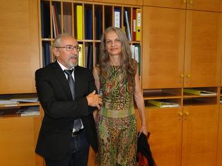Dir. Johann Jandl und die neue Schulsozialarbeiterin Hermine Ohner.