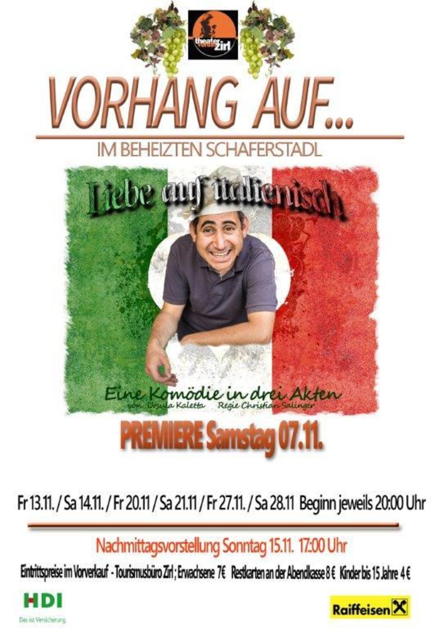 Liebe Auf Italienisch Theater In Zirl Telfs