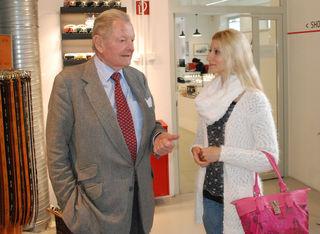 Ernst Piech (Enkelsohn von Ferdinand Porsche) mit Pop-Art-Künstlerin Tanja Playner.