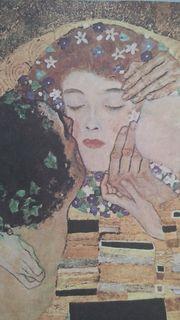 """Der Kuss ist eines der bedeutenden Werke des österreichischen Malers """"Gustav Klimt"""" (1862 - 1918) in der Jahrhundertwendekunst"""