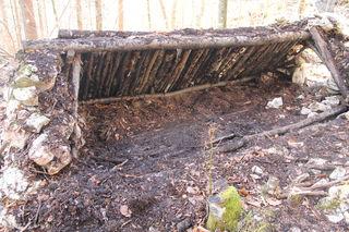 In einem Bauwerk mit Gibel und Steinwänden fand ein Anrainer am Fuße der Zimnitz in Bad Ischl die skelettierte Leiche einer Frau.