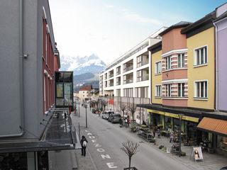 So soll das fertige Gebäude (Bahnhofstraße, Blickrichtung Norden) Ende 2017 aussehen.
