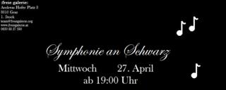 """April Midissage """"Symphonie an Schwarz"""""""