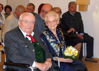 Das Jubelpaar Franz und Genoveva Reitbauer