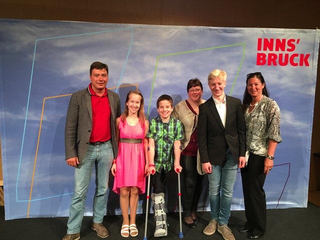 Präsident vom TEV Dr.Georg Ganner, Corinna und Patrik Huber, Silke Holomek, Anton Skoficz und Sabine Prudlo-Messner