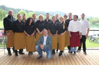 Restaurantpächter Martin Klausner und sein Team