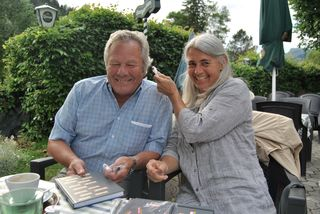 Hans Baier aus Frohnleiten und Karin Polanz aus Au bei Turnau trafen sich beim Hochschwabwirt in Thörl.