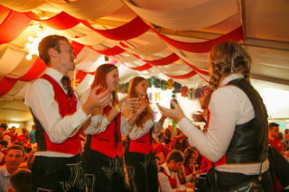 Die Musikkapelle Tiefgraben freute sich über tausende Besucher beim Bezirksmusikfest vor zwei Wochen.