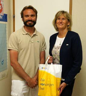 Dr. Christoph Resinger und Christine Hajek (NÖGKK)