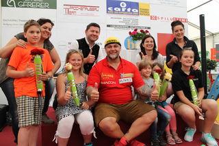 Ganz besondere Strongman-Vasenvon Stargast Franz Müllner durften fünf Kinder samt Rose ihren Mamas mitnehmen.