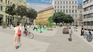 So könnte die Begegnungszone auf der Favoritenstraße aussehen.