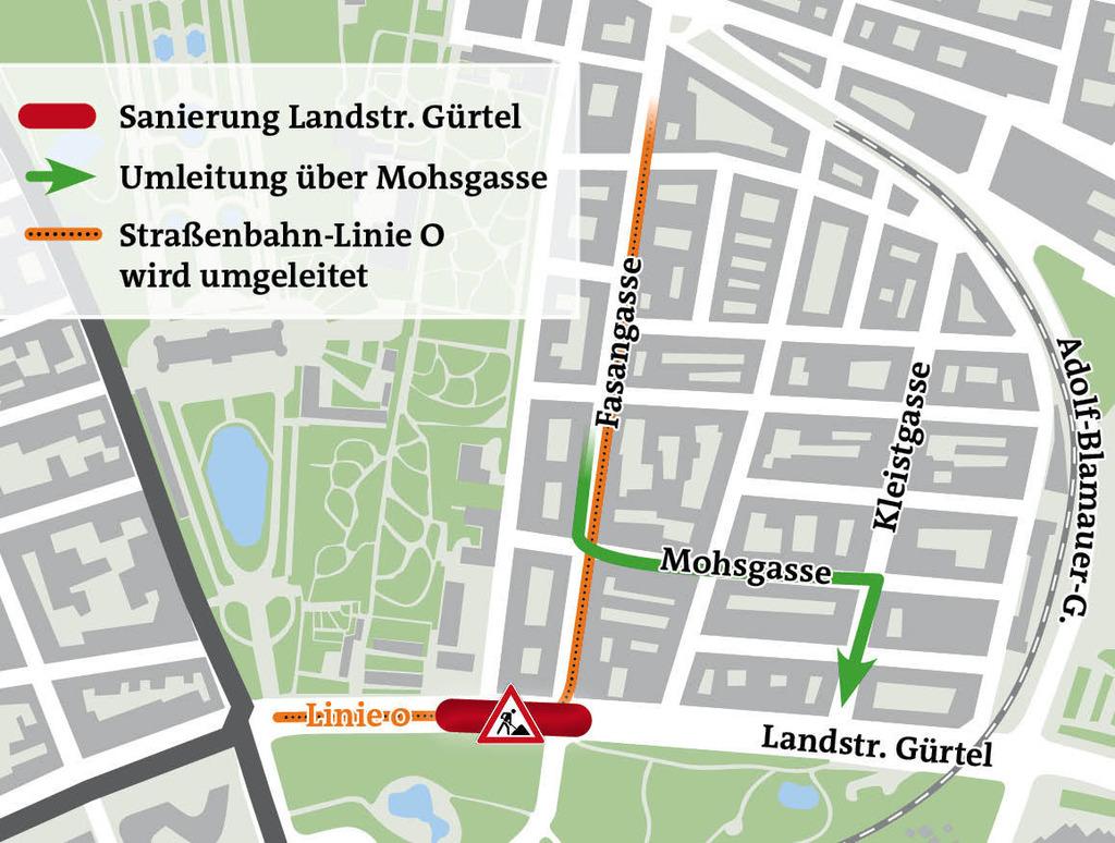 Landstraßer Gürtel Neue Gleise Für Den O Wagen Landstraße