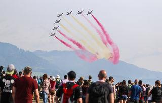 300.000 Besucher bestaunten die Flugstaffeln. Foto: ripu