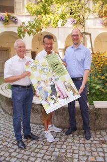 Bgm. Helmut Leitenberger, Guido Jaklitsch und Dino Kada.