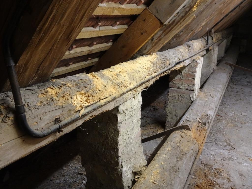 Dachstuhl Der Stadtpfarrkirche Traismauer Vor Sanierung