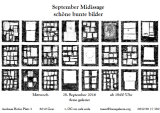 """September Midissage """"schöne bunte bilder"""" Flyer"""