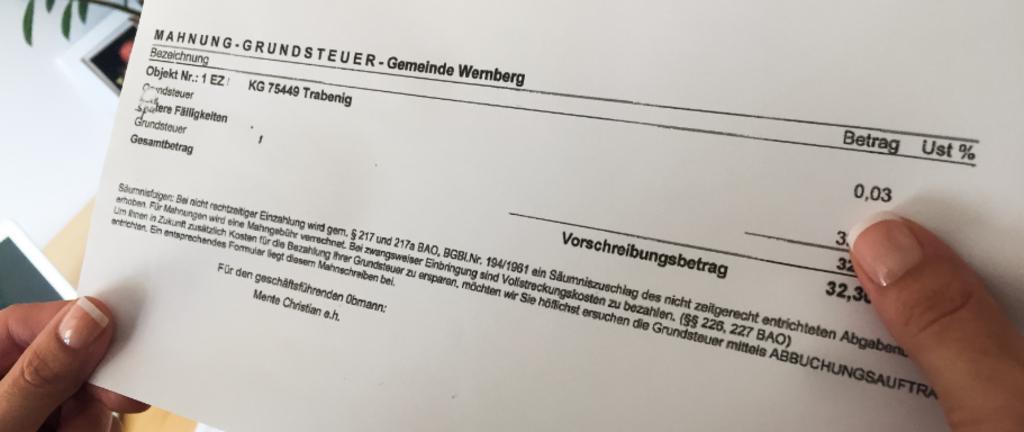 Der Nächste Fall Amt Schickt Mahnung Wegen 3 Cent Villach