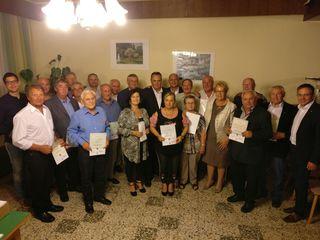 Treue Olbendorfer SPÖ-Mitglieder wurden bei der Generalversammlung für ihre langjährige Mitgliedschaft geehrt.