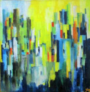 Urban Fairytales - Öl auf Leinwand - 80x80 cm