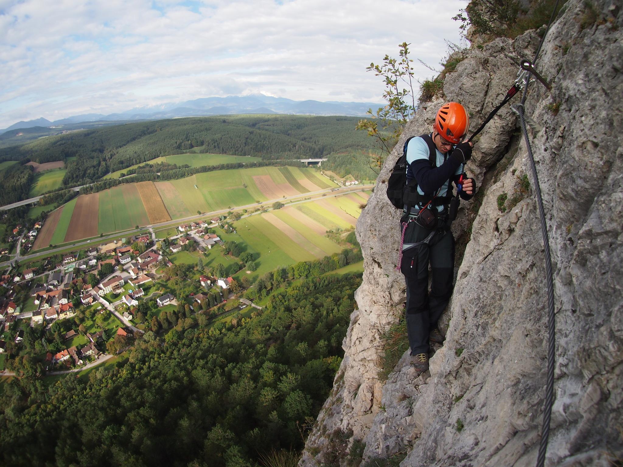 Klettersteig Türkensturz : Pittentaler steig türkensturz