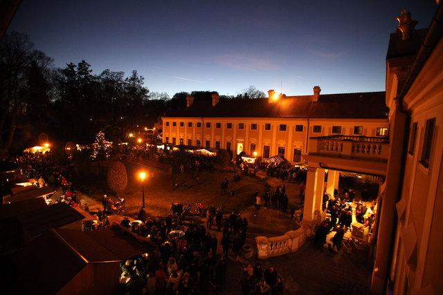 So schön erstrahlte der Adventmarkt im Schloss Jaidhofen im letzten Jahr.