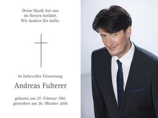 Andreas Fulterer, hat uns verlassen müssen...