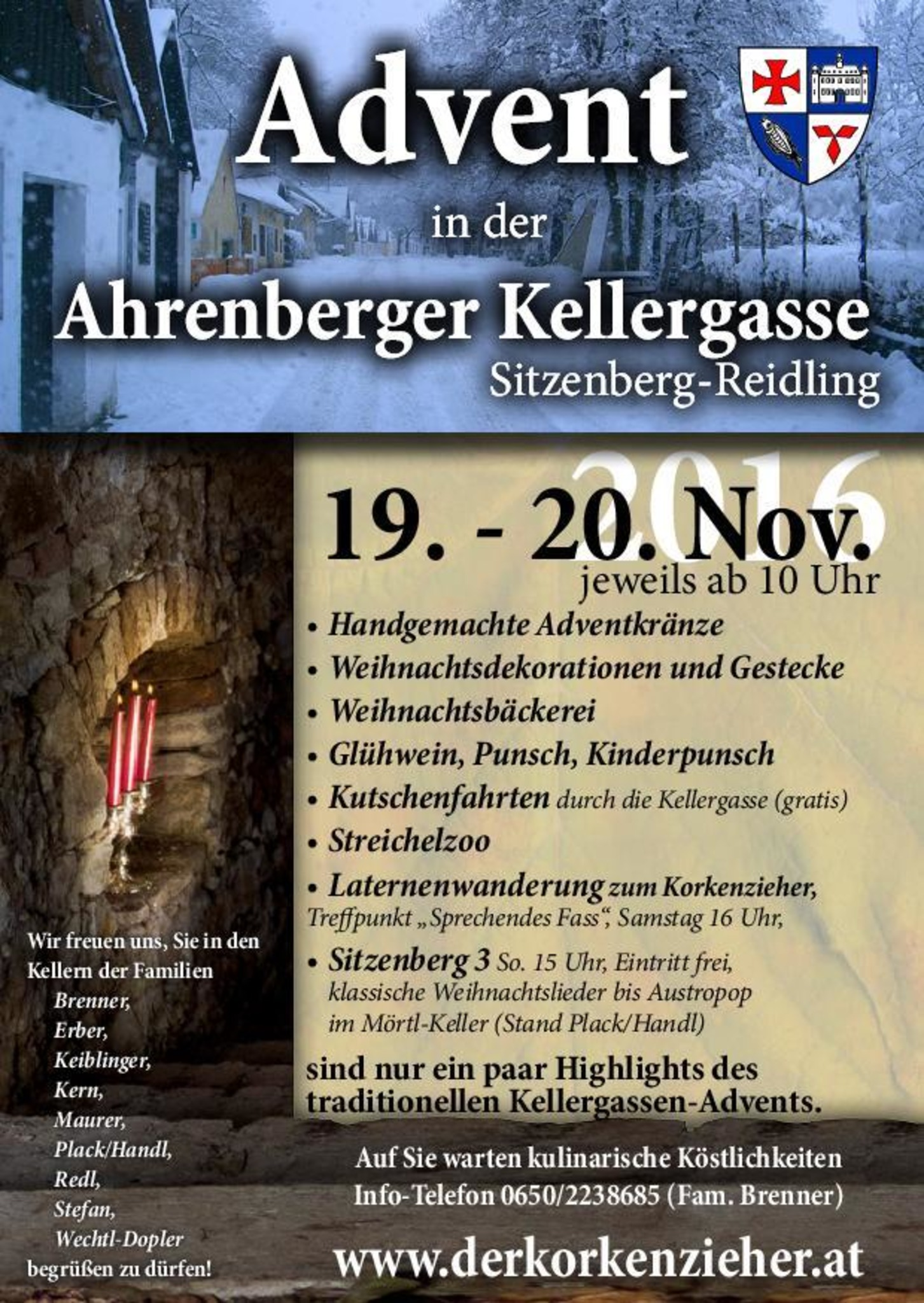 Adventmarkt In Der Ahrenberger Kellergasse Tulln