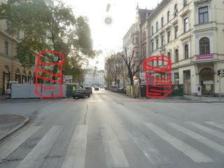 Ein Fotomontage - wie es dann bald aussehen soll. Einfach krank diese Verschandelungen mit den vielen Webeeinrichtungen in Graz.