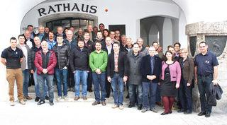 Eine der beiden Gruppen beim ersten Modul der Schulung in Kitzbühel.