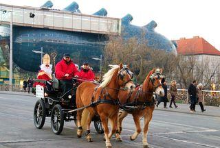 Nikolaus auf der Kutsche