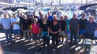 Die Teilnehmer der Kulmland-Segelregatta, die in Kroatien stattfand.