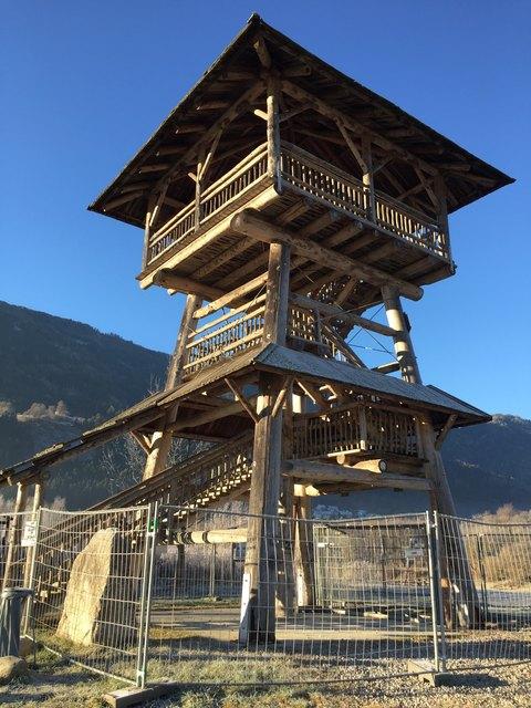 Der Turm in den Spittaler Drauauen ist derzeit gesperrt. Zu hoch ist das Sicherheitsrisiko