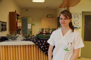 Schwester Sandra Wechselbaum macht gerne zu Weihnachten Dienst - mit der Familie feiert sie dann Weihnachten spät in der Nacht