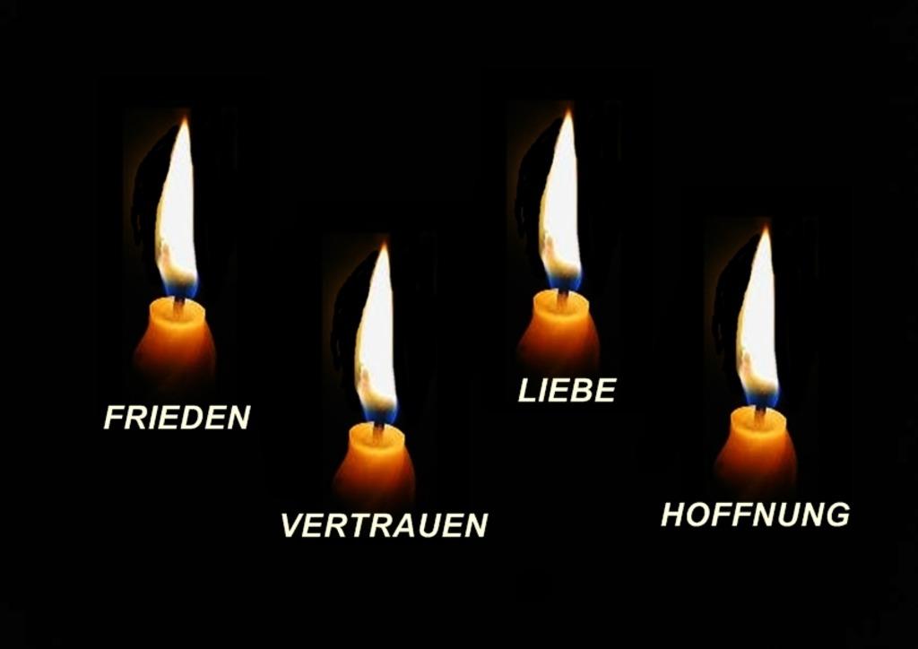 Die 4 Kerzen.Vier Kerzen Kufstein