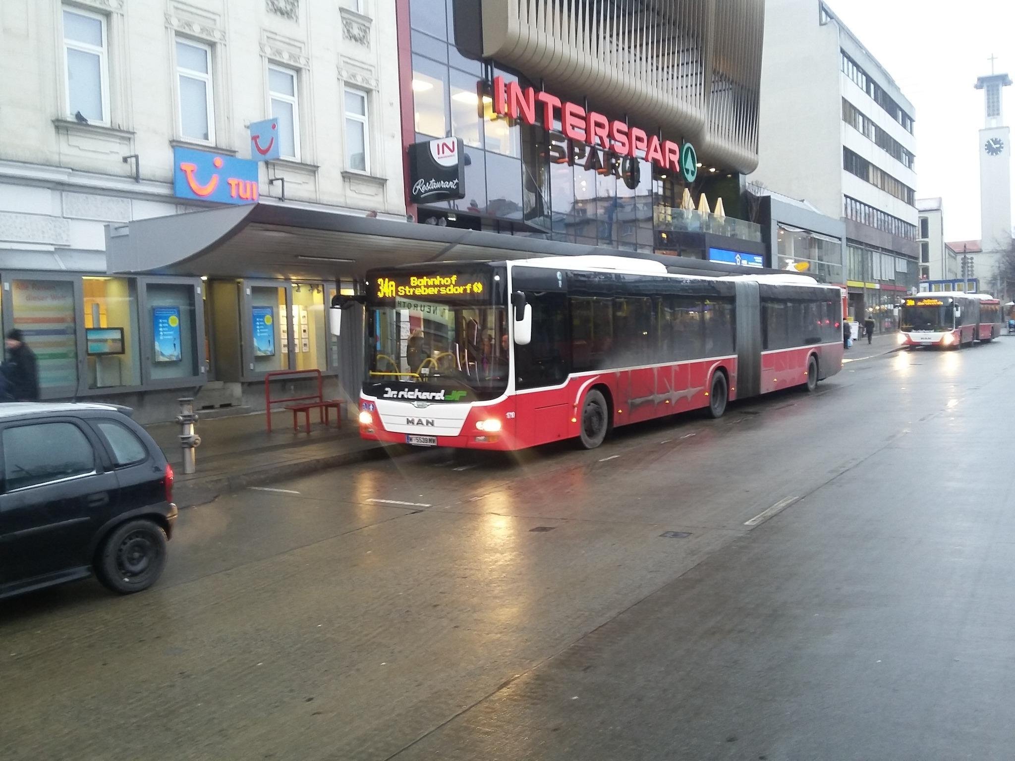 Autobus 34a Kein Warten In Der Kälte Floridsdorf