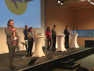 Die Spitzenkandidaten stellten sich den Fragen der Schüler.