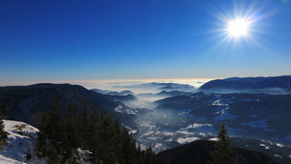 Sonne auf den Bergen