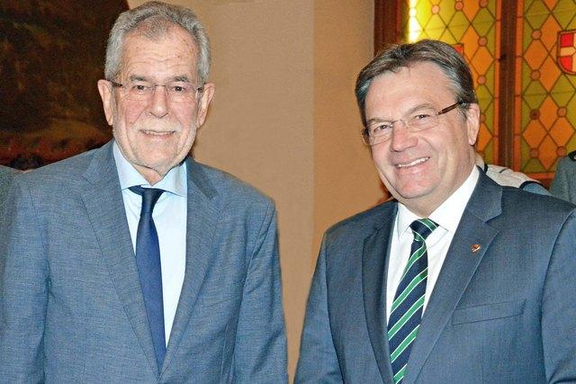 LH Günther Platter mit dem neuen Bundespräsidenten Österreichs, Alexander Van der Bellen.