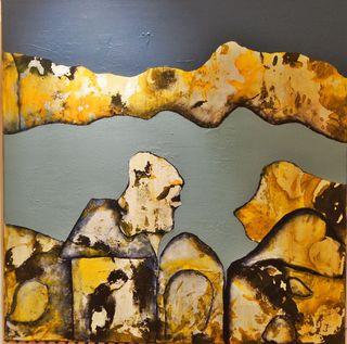 """""""Begegnung"""" - dieses Werk von Irmgard Töpfer gab der Ausstellung ihren Namen."""