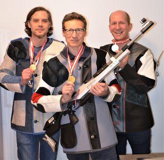 Bezirksmeister in der Herrenklasse: v.l. Claus Hofer, Harald Schimböck, Martin Spindlberger