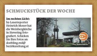 Hätte beinahe übersehen, daß meine Ansicht von der Weinbergkirche es in die Printausgabe geschafft hat! :)