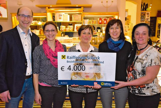 Spendenübergabe Stöger-Dorner im Cafe Ensemble