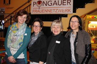 Helga Jochum-Burgstaller, Helga Weimann-Wiesinger, Karolina Altmann-Kogler und Michaela Schernthanner vom Pongauer Frauennetzwerk freuten sich auf den Veranstaltungsabend zum Weltfrauentag, der mit Vortrag und Film dem Thema Frauensport gewimdet wurde.