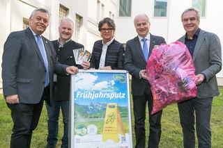 Saubere Steiermark: Himmel, Neubauer, Müller-Mezin, LR Seitinger und Draxler